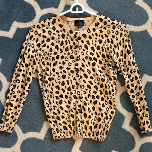Medium cheetah print cardigan